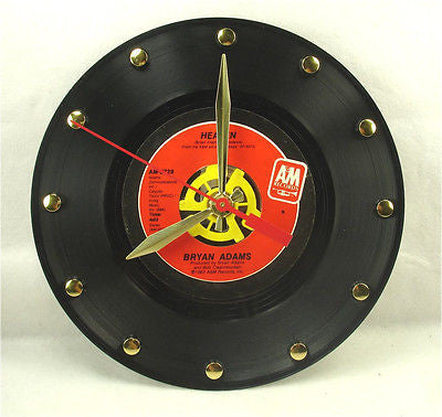 Recycled 45rpm Record Clock