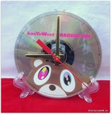 "CD Clock made w/a KANYE WEST Compact Disc / ""Graduation"" Stand Included"