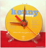"CD Clock made w/a KENNY CHESNEY Compact Disc / ""When The Sun Goes Down"" Stand Included"