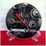 "CD Clock made w/a LINKIN PARK Compact Disc / ""Meteora"" Stand Included"