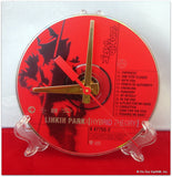 "CD Clock made w/a LINKIN PARK Compact Disc / ""Hybrid Theory"" Stand Included"