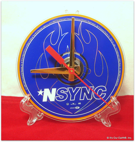 "CD Clock made w/a NYSYNC Compact Disc / ""NYSYNC (Debut)"" Stand Included"