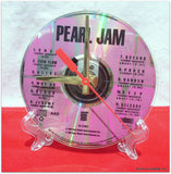 "CD Clock made w/a PEARL JAM Compact Disc / ""TEN"" Stand Included"