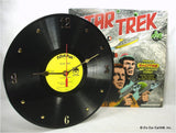 Clock made w/a STAR TREK Record / 1970s Story Album / with Album Jacket