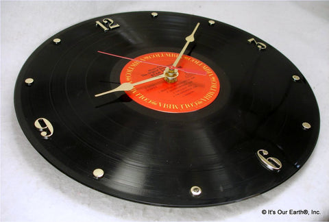 Clock made w/a STAR TREK Record / Motion Picture Soundtrack (1979)