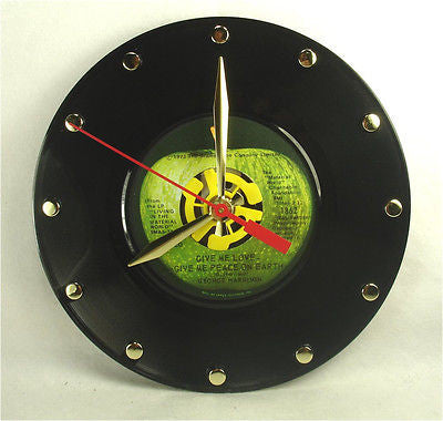 Clock made w/a GEORGE HARRISON Record / Give Me Love