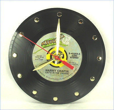 Clock made w/a HARRY CHAPIN Record / Cat's In The Cradle