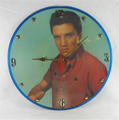 Clock made w/a ELVIS PRESLEY Record / Legendary Performer Vol 3 / Picture Disc