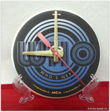 "CD Clock made w/a WHO Compact Disc / ""Who's Next"" Desk Stand Included"