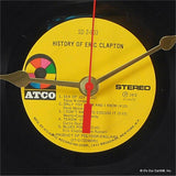 "Clock made w/a ERIC CLAPTON Record ""History Of Eric Clapton"" (1972)"