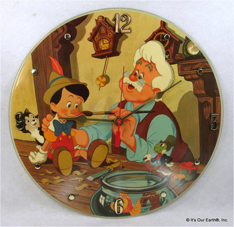 Clock made w/a PINOCCHIO Record / Disney Soundtrack / Picture Disc