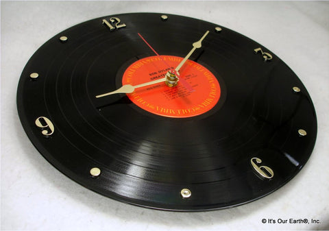 "Clock made w/a BOB DYLAN Record ""Greatest Hits"" (1967)"