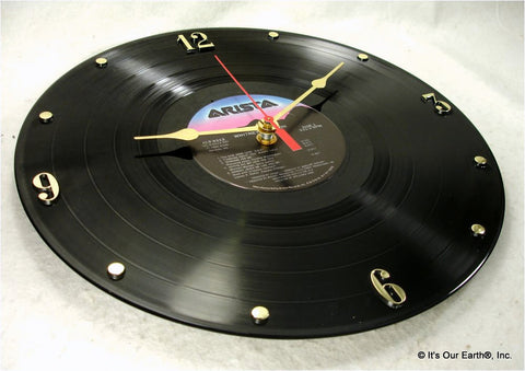 "Clock made w/a WHITNEY HOUSTON Record ""Whitney Houston"" (1985)"
