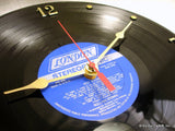 "Clock made w/a ROLLING STONES Record ""Hot Rocks 1964-1971"" (1971)"