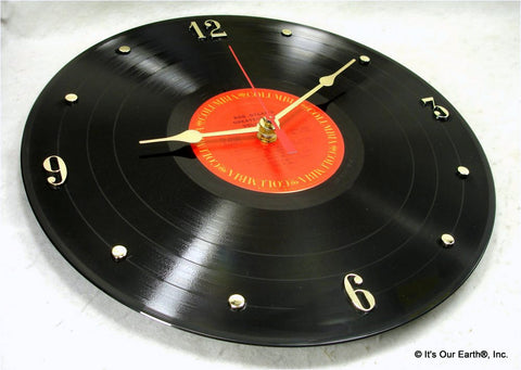 Recycled Vinyl Record Wall Clock