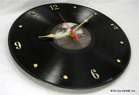 "Clock made w/a GEORGE HARRISON Record ""Dark Horse"" (1974)"