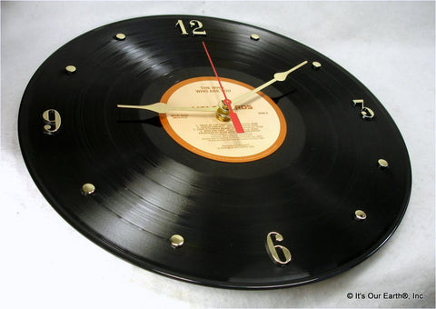 "Clock made w/a WHO Record ""Who Are You"" (1978)"