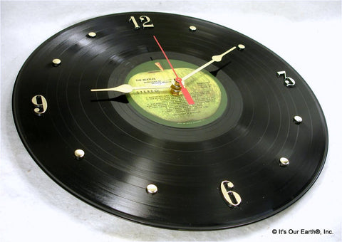 "Clock made w/a BEATLES Record ""The Beatles a.k.a. The White Album"" (1968)"