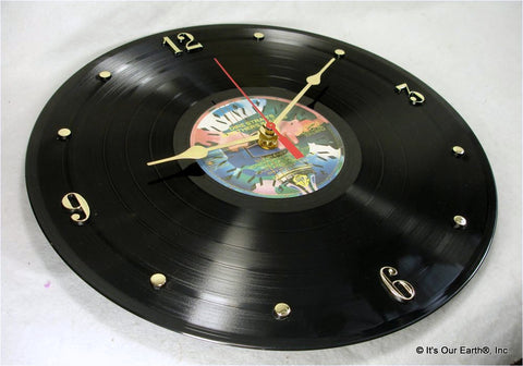 "Clock made w/a DIRE STRAITS Record ""Brothers In Arms"" (1985)"