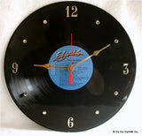 "Clock made w/a ELVIS PRESLEY Record ""Elvis In Concert"" (1977)"