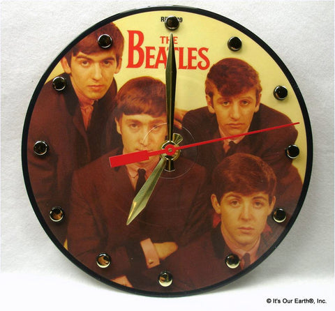"Clock made w/a BEATLES Record ""Love Me Do"" (1962) Picture Disc"