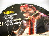 "Clock made w/a WILLIE NELSON Record ""HBO Concert"" (1983) Picture Disc"