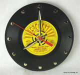 "Clock made w/a JOHNNY CASH Record ""Rock Island Line"" (1970)"