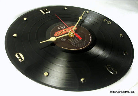 "Clock made w/a DEF LEPPARD Record ""Pyromania"" (1983)"