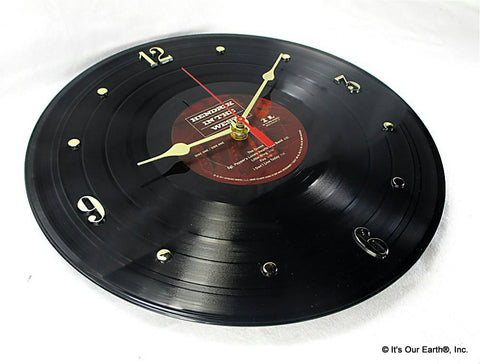 "Clock made w/a JIMI HENDRIX Record ""Hendrix In The West"" (1972)"