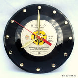 "Clock made w/a DEVO Record ""Working In Coal Mine"" (1981)"