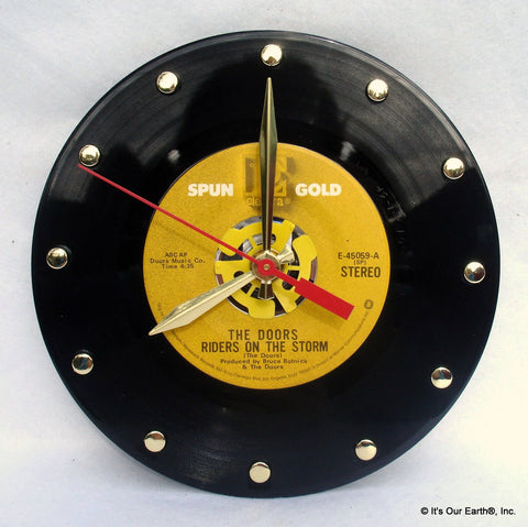 "Clock made w/a The DOORS Record ""Riders On The Storm"" (1971)"