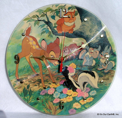 Recycled Bambi Picture DiscClock