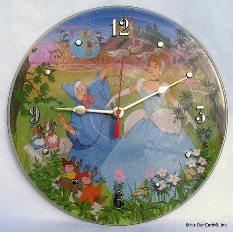 Clock made w/a CINDERELLA Record / Disney Soundtrack / Picture Disc