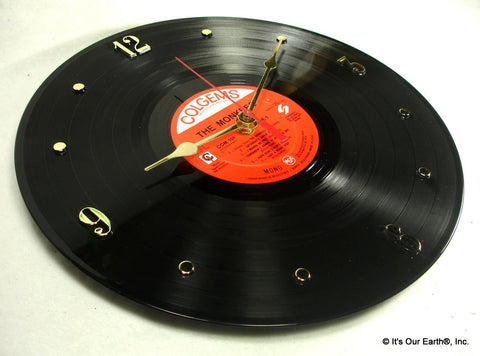 "Clock made w/a MONKEES Record ""The Monkees"" (1966)"