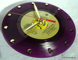 "Clock made w/a ELVIS PRESLEY Record ""Always On My Mind"" (1972) Purple Vinyl"