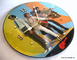 "Clock made w/a MONKEES Record ""Monkee Business"" (1982) Picture Disc"