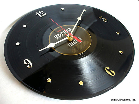 "Clock made w/a EMINEM Record ""Marshall Mathers 2 LP"" (2013)"