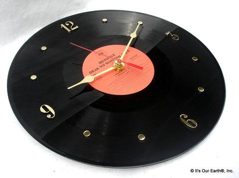 "Clock made w/a BEYONCE Record ""Deja Vu"" (2006) Featuring Jay-Z"