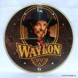 "Clock made w/a WAYLON JENNINGS Record ""Greatest Hits"" (1979) Picture Disc"