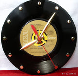 "Clock made w/a DAVID BOWIE Record ""Golden Years"" (1975)"