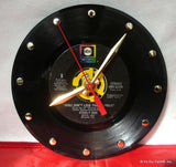 "Clock made w/a STEELY DAN Record ""Rikki Don't Lose That Number"" (1974)"
