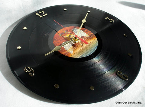 "Clock made w/a LED ZEPPELIN Record ""Presence"" (1976)"