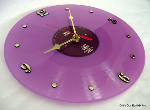 "Clock made w/a LANA DEL REY Record / ""Ultraviolence"" (2014) Purple Color Vinyl"