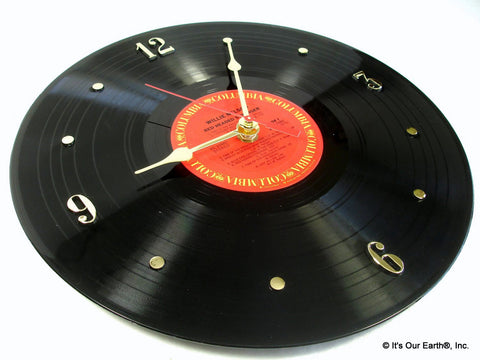 Recycled Vinyl Record Clock