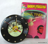 "Clock made w/a STAR TREK Record / ""Passage To Moauv"" / Story Book Included"