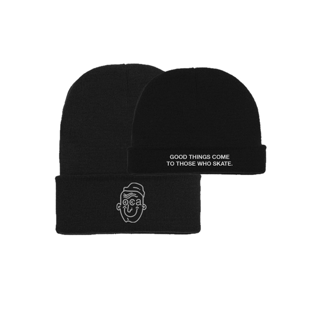 Good Things Double Fold Black Beanie