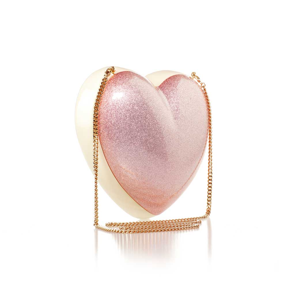Fairy Night - The Confetta Heart-Shaped Gold and Rose Minaudiere