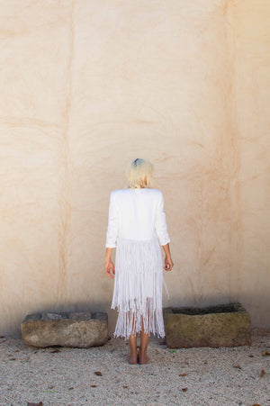 Bamboo Linen Crop Jacket