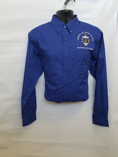 4th Degree Long Sleeve (Men's Size)-Royal Blue