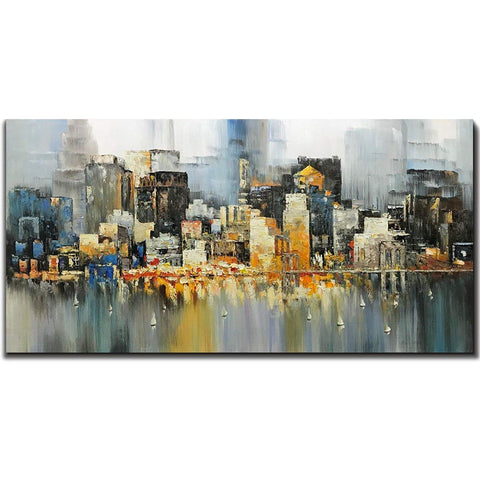 city scape wall art
